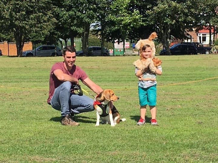 A little boy attended dressed as max my beagle. With my partner Danny